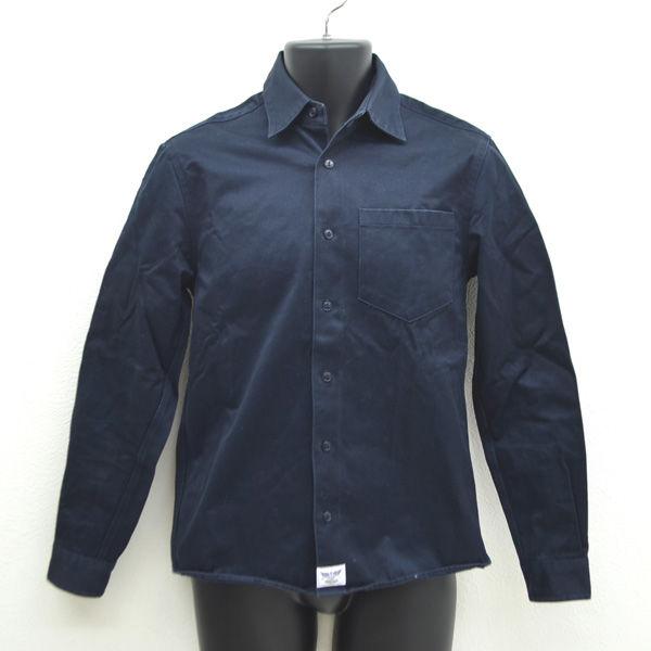 SO CAL BRIDGE ブリッジ 長袖シャツ ワークシャツ ネイビー 送料無料 サイズM メンズファッション 男性 MEN お値打ち価格で 紳士 メンズ 中古 ボーイズ 古着
