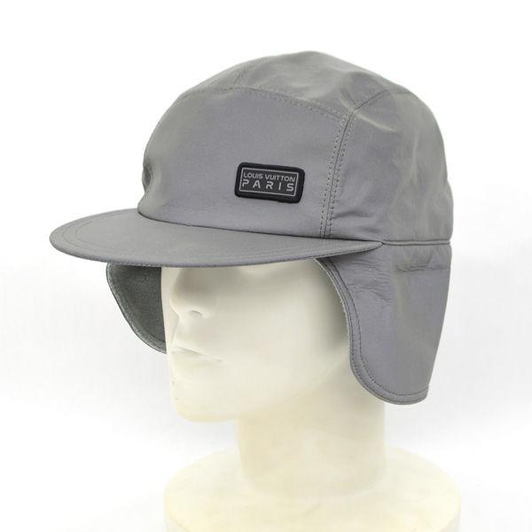 LOUIS VUITTON ルイヴィトン LVスペース 返品送料無料 ミッション キャップ 帽子 シルバー 防寒 メンズ 男性 紳士 帽 ボーイズ MEN ハット ブランド 中古 大人気 ぼうし