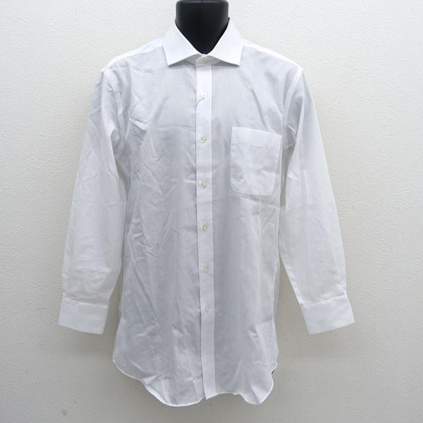 SIMON CARTER サイモンカーター 新生活 長袖シャツ ワイシャツ 低価格 無地 ホワイト サイズ42-82 紳士 古着 ボーイズ 中古 メンズ 男性 MEN メンズファッション