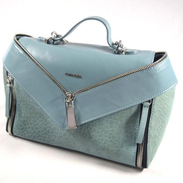 DIESEL ディーゼル ■チェーン 2wayバッグ 出荷 ブルー レザー バッグ 鞄 BAG ブランド 中古 バック 直送商品 カバン
