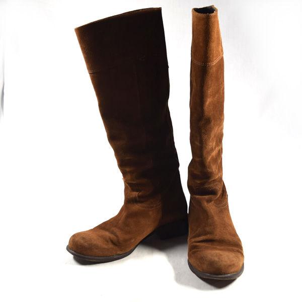 贈答 超人気 SEM PARAR サンパウロ ロングブーツ スエード ブラウン サイズ39 レディース ガールズ クツ 中古 婦人 女性 シューズ LADY SHOES 靴 レディースファッション