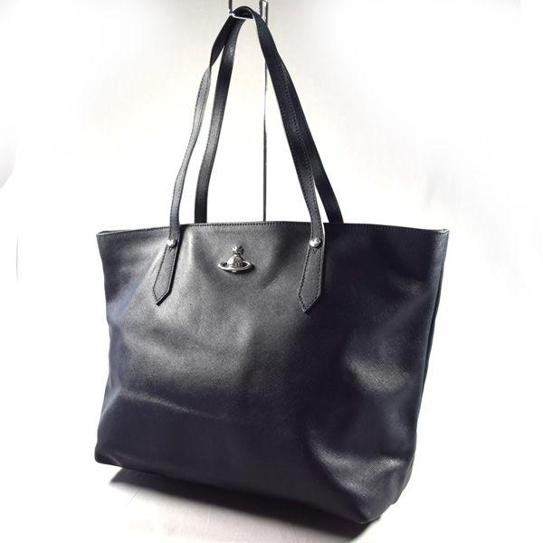 Vivienne Westwood ヴィヴィアンウエストウッド 希望者のみラッピング無料 日本全国 送料無料 ■ORB ショルダー トートバッグ PVC 紺 BAG ブランド 鞄 中古 バッグ カバン バック