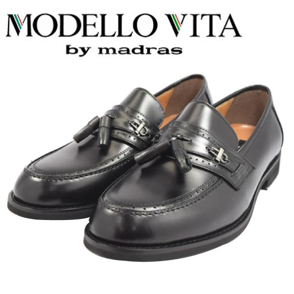 MODELLO VITA モデーロ ビータ スリッポン ビジネス マドラス 革靴 幅広 撥水 4E VT5570 【nesh】【新品】