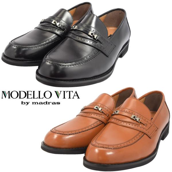 MODELLO VITA モデーロ ビータ ローファー ビット ビジネス マドラス 革靴 幅広 撥水 4E VT5572 【nesh】【新品】