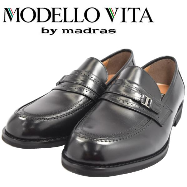 MODELLO VITA モデーロ ビータ ローファー ビジネス マドラス 革靴 幅広 撥水 4E VT5573 【nesh】【新品】