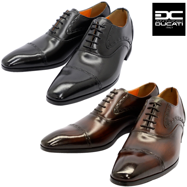 カラー:ブラック 公式 ダークブラウン サイズ:24.5cm 25.0cm 25.5cm 26.0cm おしゃれ 26.5cm 27.0cm 27.5cm 28.0cm ANTONIO 新品 nesh 革靴 ストレートチップ 1190 DUCATI アントニオ ビジネスシューズ ドゥカティ 本革