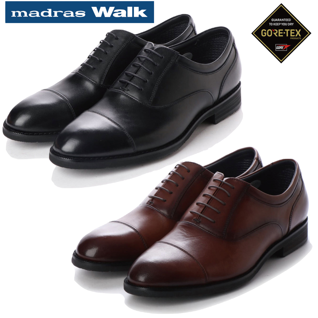 madras Walk マドラス ストレートチップ ビジネス シューズ ゴアテックス MW5904 【nesh】 【新品】