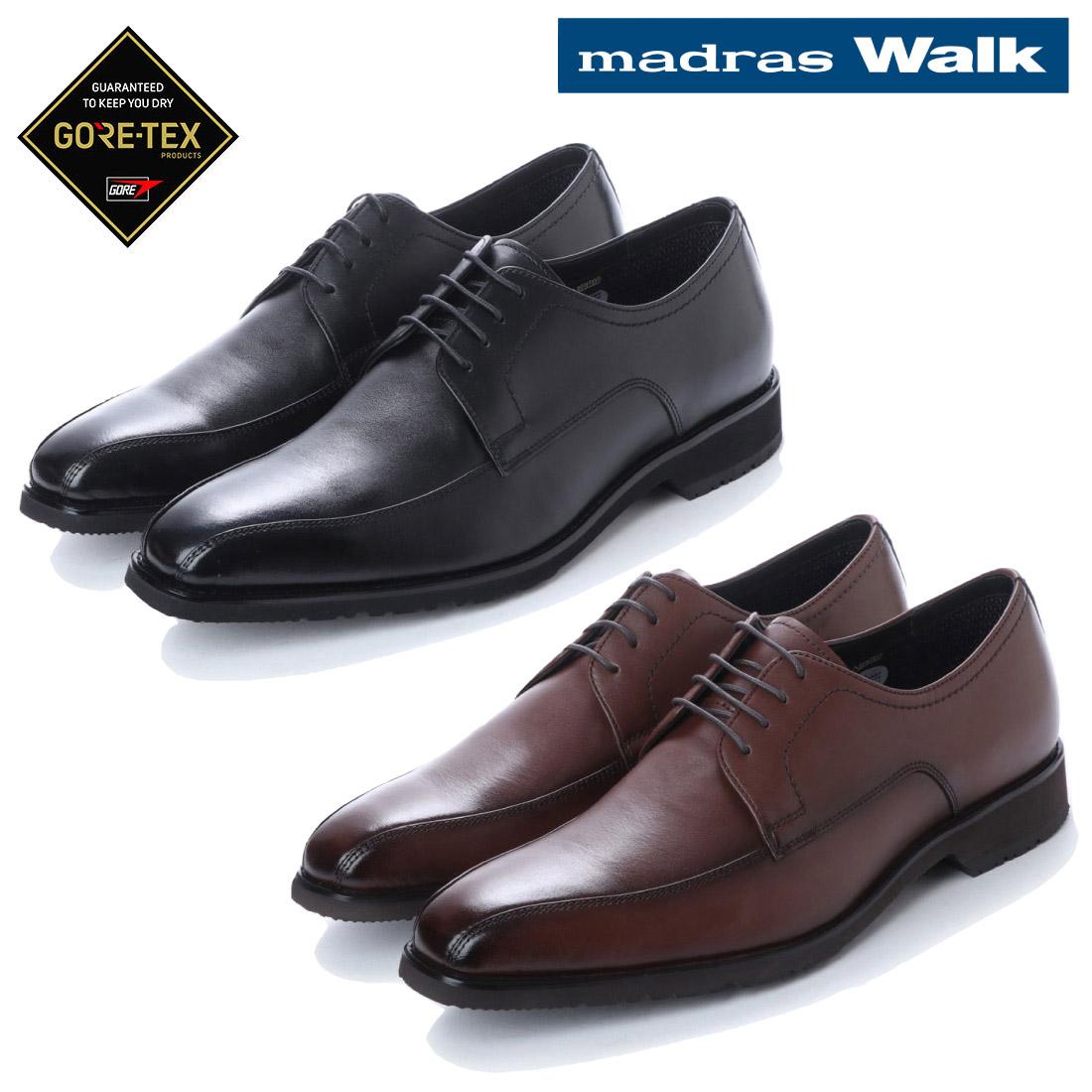 madras Walk マドラス外羽根 スクウェアトゥ ビジネス シューズ MW8021 防水 革靴 【nesh】 【新品】