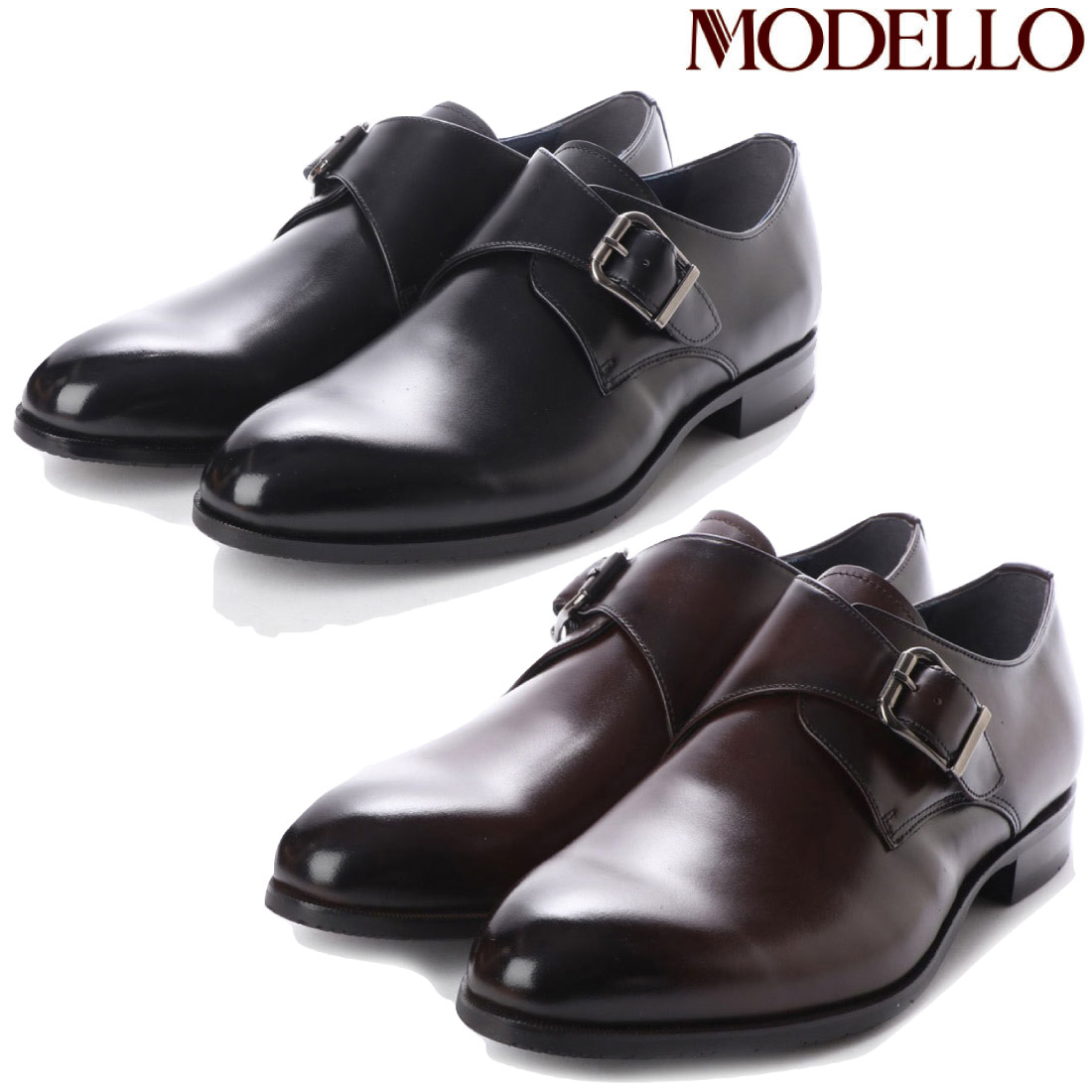 モデロ MODELLO モンクストラップ ビジネスシューズ DM7027 マドラス 革靴 【nesh】 【新品】