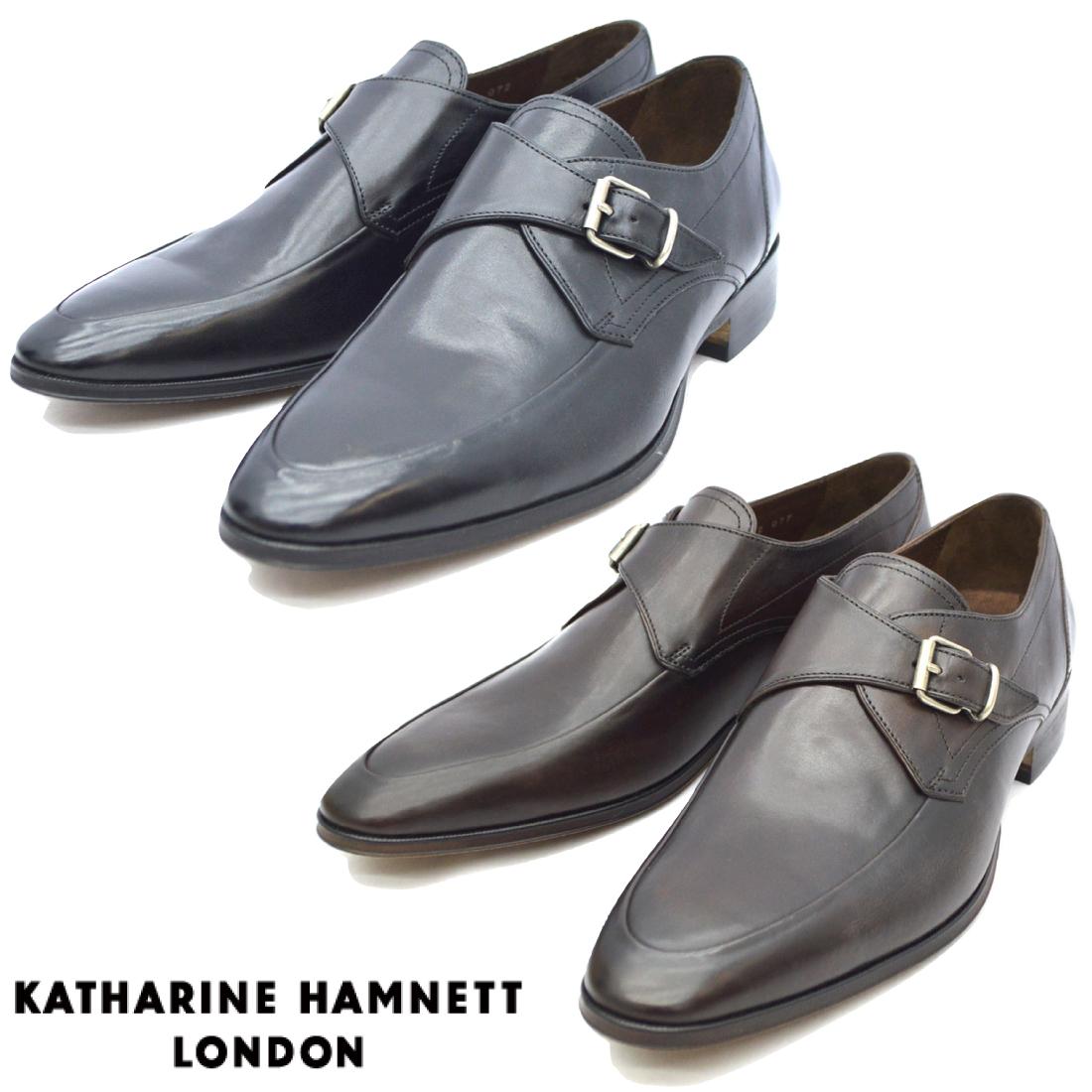 KATHARINE HAMNETT キャサリンハムネット モンクストラップ ビジネス シューズ 31632 紳士靴 【nesh】 【新品】