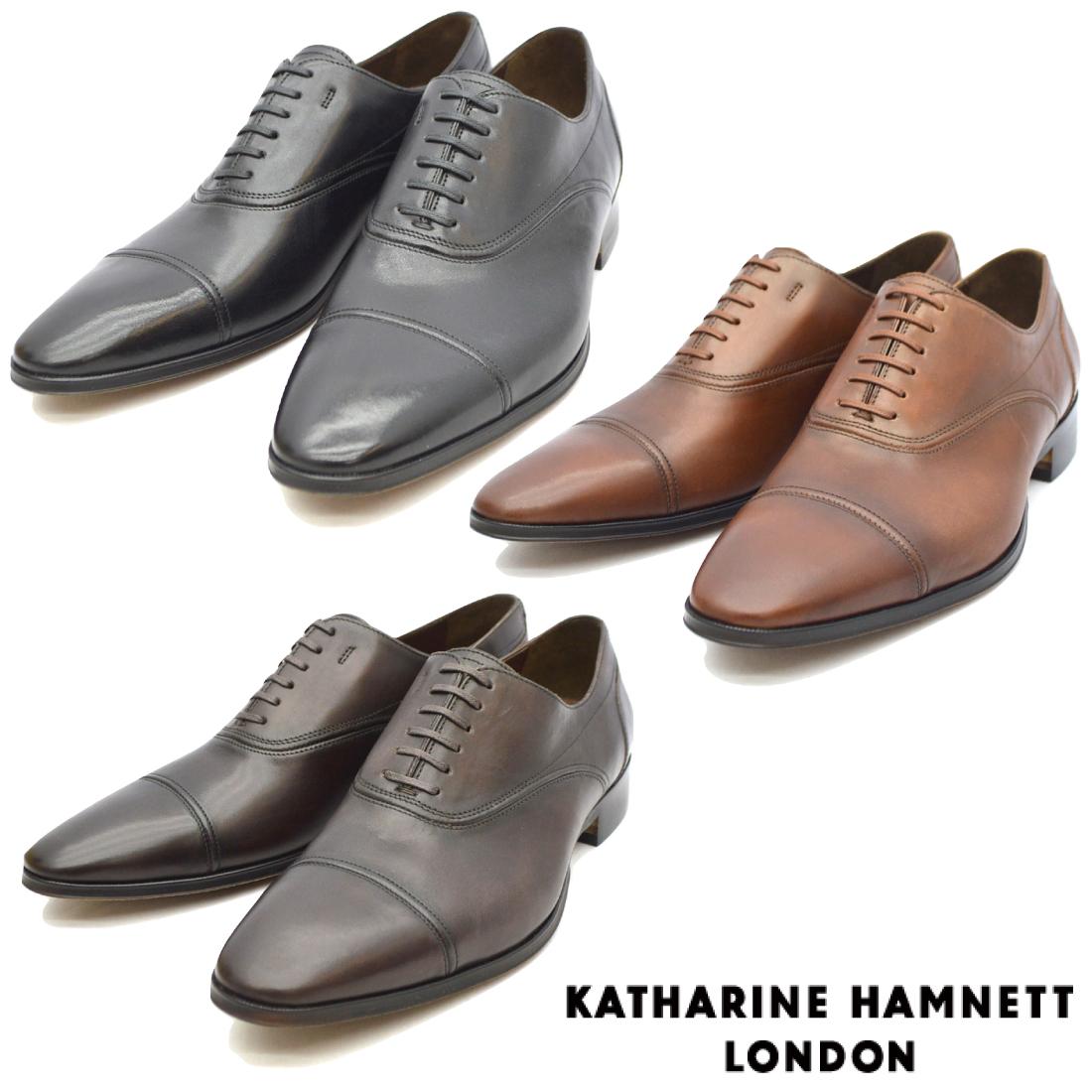KATHARINE HAMNETT キャサリンハムネット ストレートチップ ビジネス シューズ 31633 紳士靴 【nesh】 【新品】