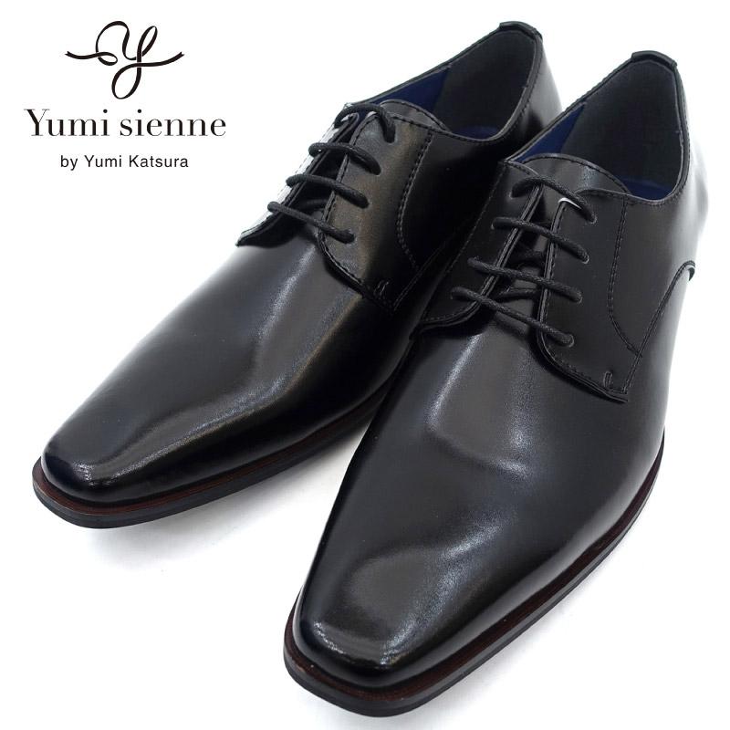カラー:ブラック サイズ:24.5cm 25.0cm 25.5cm 開店記念セール 26.0cm 希少 26.5cm 27.0cm Yumi プレーントゥ 新品 日本製 nesh sienne YS7411 ビジネスシューズ ユミジェンヌ