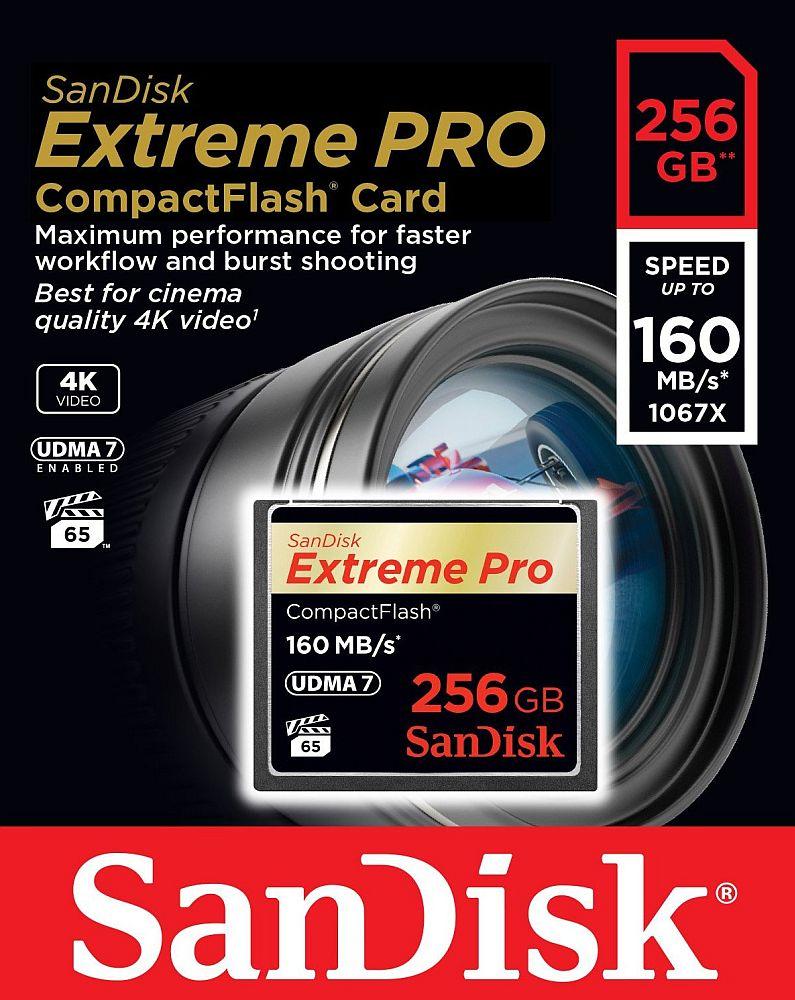 Sandisk 送料無料 超高速1067倍速(160MB/s)を実現!サンディスク Extreme Pro CFカード 256GB(UDMA7対応)SDCFXPS-256G-X46
