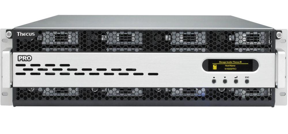 Thecus シーカス ENTERPRISE ラックマウントモデル — 大企業向け 16ベイ・3Uラックマウント型 NASキット N16000PRO
