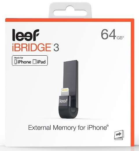 Leef Technology Leef iPhone・iPad Lightning接続メモリ USB3.1 (Gen1) iBRIDGE3 Apple Touch ID 対応 64GB LIB300KK064E1