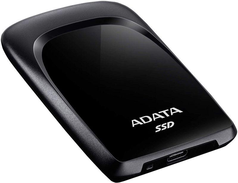 ADATA ポータブルSSD 960GB / USB3.2 (Gen2) / USB Type-C 接続/軽量 (厚さ:10mm 重量:35g) / SC680 / 黒 ASC680-960GU32G2-CBK / 3年保証