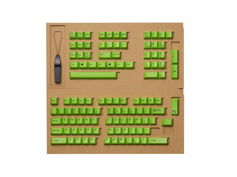 東プレ REALFORCE R2シリーズ英語配列 交換用カラーキートップセット(緑) 108キー R2-US-KT-GN