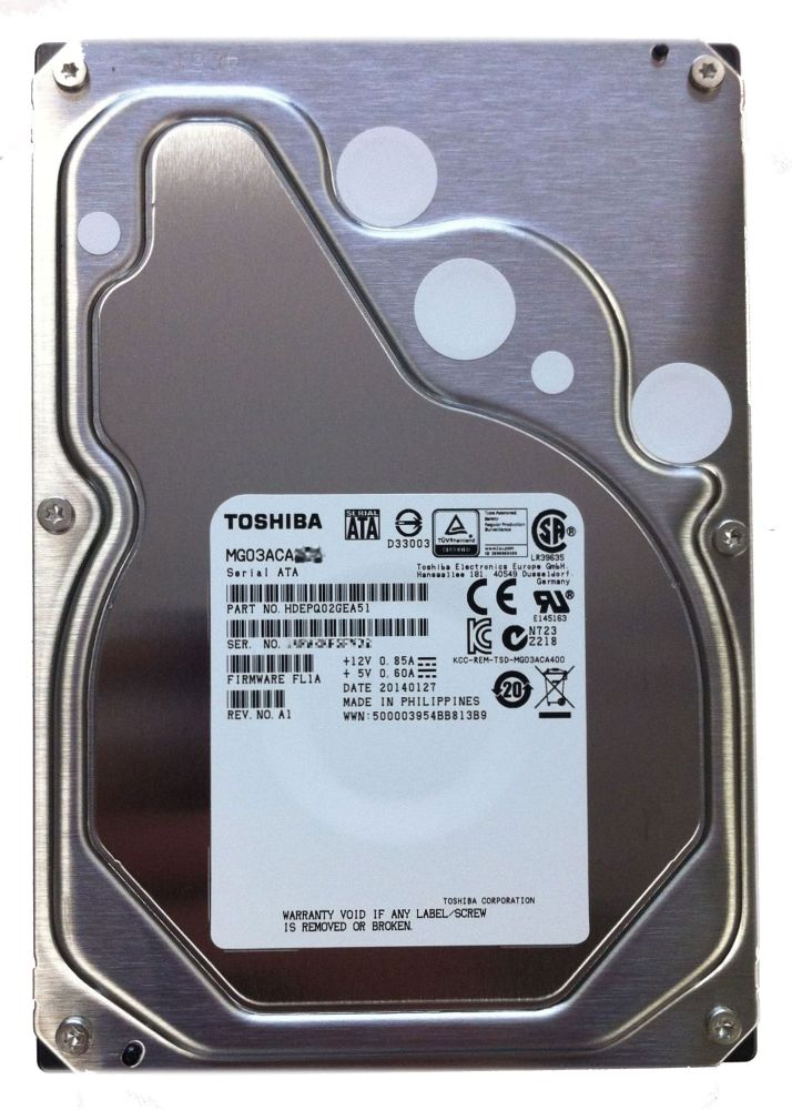 TOSHIBA NASに最適!東芝 エンタープライズ ニアラインHDD 3TB 512セクタ(非AFT) 1年保証 MG03ACA300