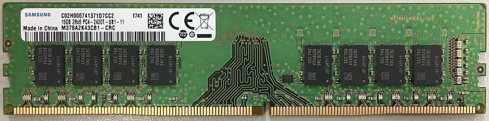 SAMSUNG ORIGINAL サムスン純正 PC4-19200 DDR4-2400 16GB (1024Mx8) デスクトップ用 288pin Unbuffered DIMM バルク品