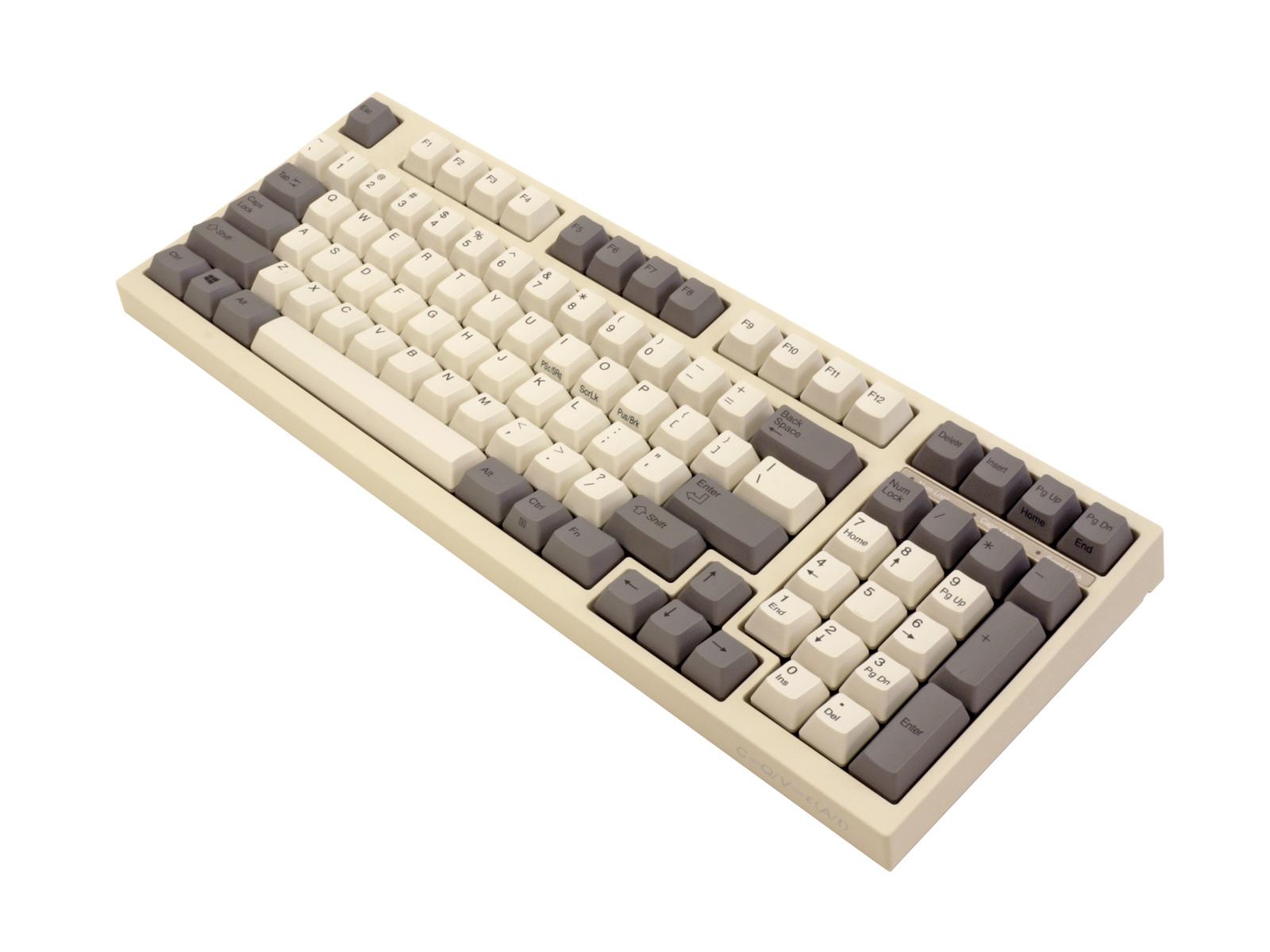新品アウトレット(包装パッケージ破れ/未使用新品) LEOPOLD 98key Electrostatic Capacitive Compact Keyboard FC980C 白モデル FC980C/EW 英語ASCII配列 白・グレーキーキャップ 昇華印刷