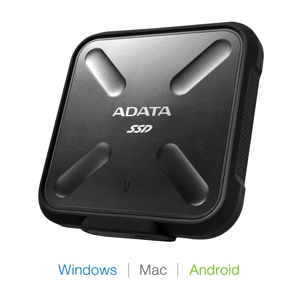 即納です ☆最安値に挑戦 3年保証 送料無料 安心の宅配便配送 ADATA 1TB ポータブル SSD SD700 防塵 防水 USB ブラック 3.1 耐衝撃 IP68 ASD700-1TU31-CBK 正規認証品!新規格