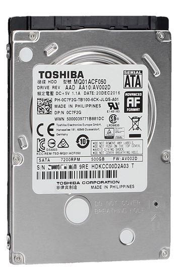 即納です 1年保証 安心の宅急便配送 送料全国一律490円 離島除く TOSHIBA 東芝 2.5inch MQ01ACF050 代引き不可 16MB 7200回転 7mm厚 SATA HDD 授与 500GB