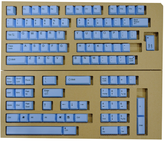 REALFORCE104/87 배열 교체 컬러 키 상판 풀 세트 (파랑) XF0100-KT2