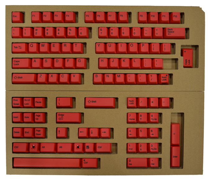 Color key top full set (red) XF0100-KT3 for REALFORCE104/87 sequence exchange