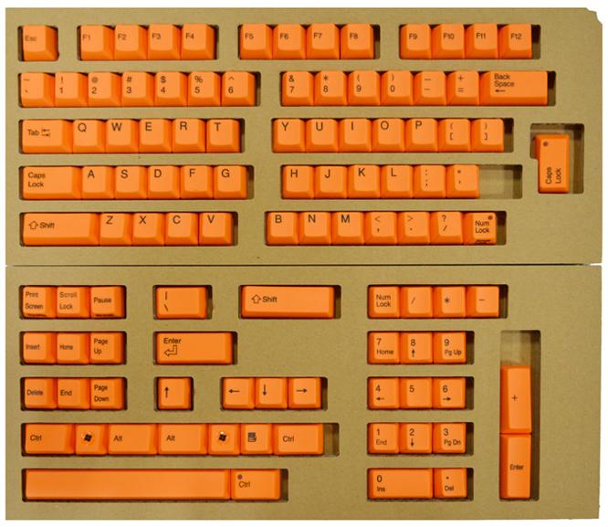 東プレ REALFORCE104/87配列 交換用カラーキートップフルセット(橙) XF0100-KT5