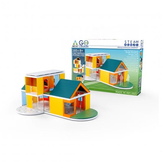 建築 ブロック 大幅にプライスダウン 家 住宅 模型 プラモデル 知育玩具 建物 パズル 設計 NEW売り切れる前に☆ 作る楽しみ 現代的なデザイン建築を楽しもう 送料無料 160ピース ギフト STEAM教材 ゴーカラーズ2.0