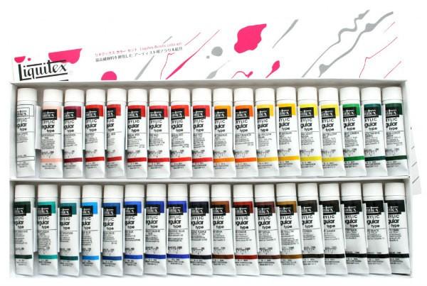 リキテックス レギュラー 36色セット 6号 20ml アクリル絵具 チューブ 超美品再入荷品質至上 お得 36色Aセット Liquitex 伝統色