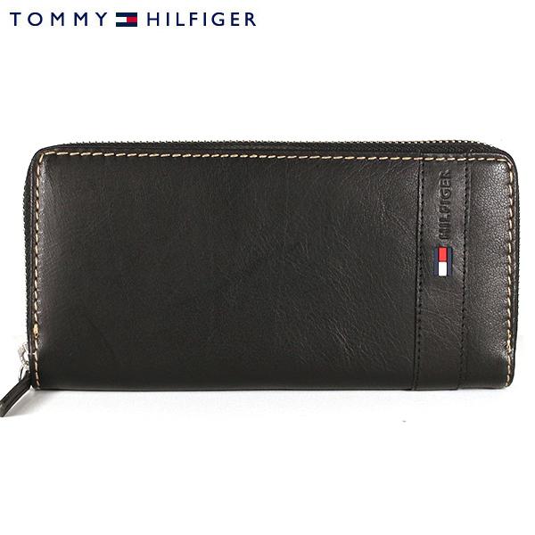 【TOMMY HILFIGER】トミーヒルフィガー 財布 ラウンドファスナー 長財布 ブラック 31TL13X023 001 0091 5843 01【あす楽対応】