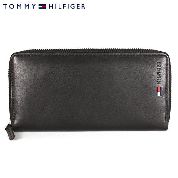 【TOMMY HILFIGER】トミーヒルフィガー 財布 ラウンドファスナー 長財布 メンズ レザー 革 ブラック 31TL13X028-001 0096 4100 01【あす楽対応】