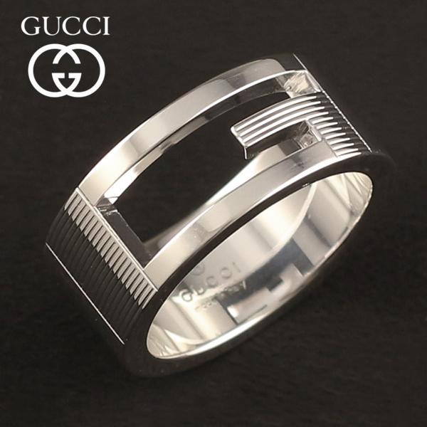 グッチ 指輪 リング GUCCI マーケット メンズ レディース シルバー 032661-09840-8106 あす楽対応 032660-09840-8106 Gマーク 定番から日本未入荷 送料無料 Gリング シルバー925