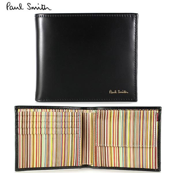 【PaulSmith】ポールスミス 二つ折り財布 財布 メンズ ブラック マルチカラー ATXC 4833 W761 79 【あす楽対応】【送料無料】