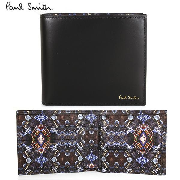 53aaf3ffaa39 【PaulSmith】ポールスミス メンズ 二つ折り財布 財布 ブラック×ミニ万華鏡(インテリア