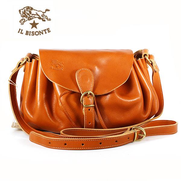 イルビゾンテ IL BISONTE ショルダーバッグ レディース レザーバッグ オレンジ ORANGE A2378 P 166