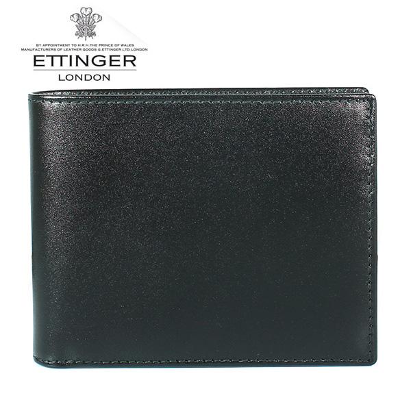 エッティンガー ETTINGER 2つ折り財布 小銭入れ付き ロイヤルコレクション BLACK×PURPLE ブラック系 ST141JR メンズ【あす楽対応】【送料無料】