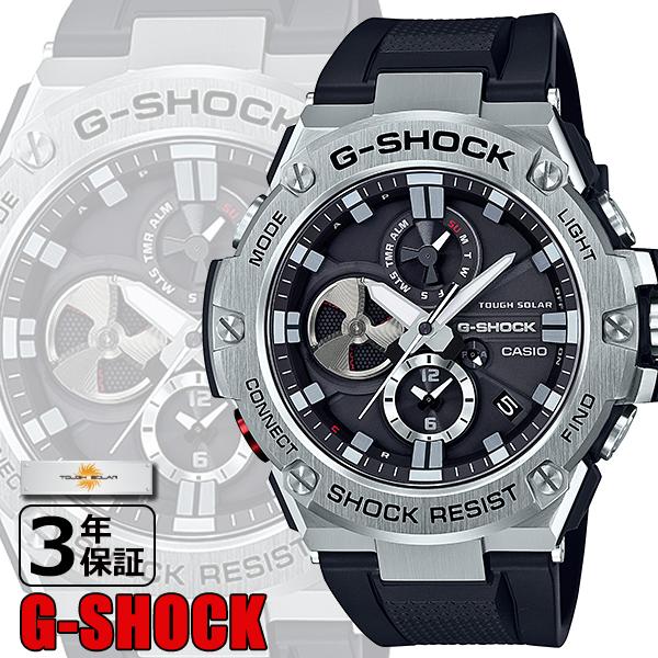 【CASIO】G-SHOCK カシオ Gショック 腕時計 デジタル メンズウォッチ Bluetooth®搭載タフネスクロノグラフ ブラック GST-B100-1AJF