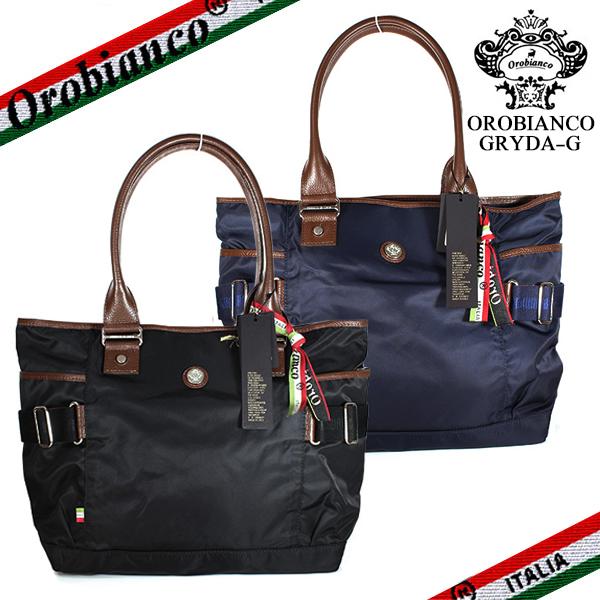 【OROBIANCO】オロビアンコ GRYDA-G グリダ トートバッグ ナイロン カジュアル ブラック/ブルー GP