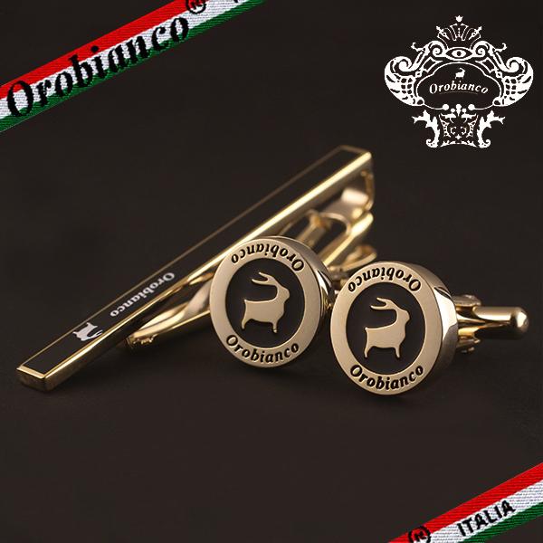 【Orobianco】オロビアンコ タイピン タイクリップ カフリンクス カフスボタン ゴールド ORT246B/ORC246B
