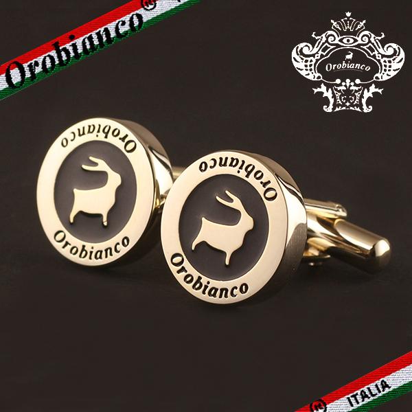 オロビアンコ カフス Orobianco メンズ カフリンクス カフスボタン ラウンド ゴールド 紳士用 ORC246B 6812014 父の日 ギフト プレゼント