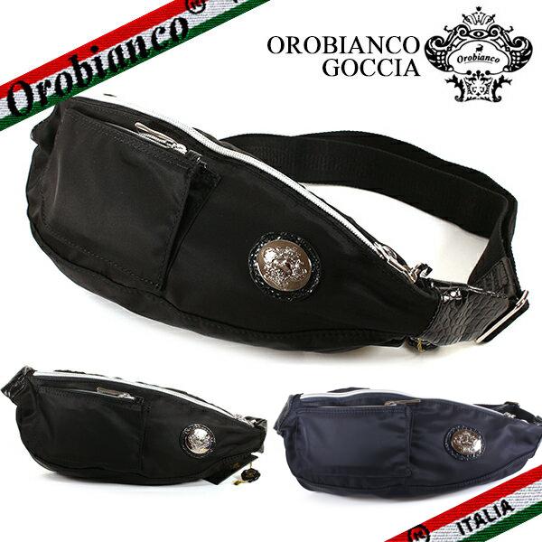 1/14入荷♪2020年春夏入荷♪【Orobianco】オロビアンコ GOCCIA-C ボディバッグ メンズ 斜めがけ ショルダーバック ナイロン ブラック/ブルー