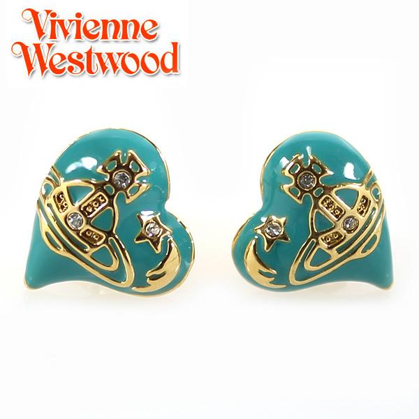 【Vivienne Westwood】ヴィヴィアンウエストウッド ピアス エリザベス イヤリング イエローゴールド×ブルー 3200【あす楽対応】【送料無料】
