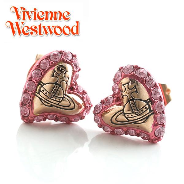 【Vivienne Westwood】ヴィヴィアンウエストウッド ピアス ジータ スタッド イヤリング ハート ピンクゴールド×ライトローズ 3235【あす楽対応】【送料無料】