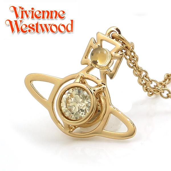【Vivienne Westwood】ヴィヴィアン ウエストウッド ネックレス ノーラ ペンダント イエローゴールド×イエロー 3492 【あす楽対応】【送料無料】