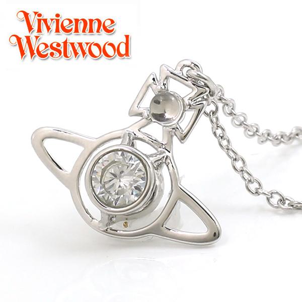 【Vivienne Westwood】ヴィヴィアン ウエストウッド ネックレス ノーラ ペンダント シルバー×クリア 3488【あす楽対応】【送料無料】