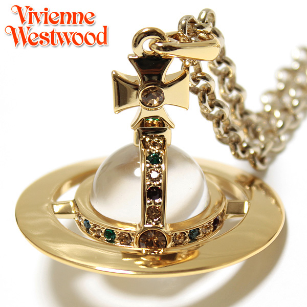 【Vivienne Westwood】ヴィヴィアン ウエストウッド ネックレス NEW SMALL ORB スモールオーブペンダント ゴールド 1808