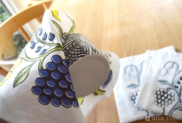 KUOVI クオヴィ 北欧テキスタイル ナプキン オーチャード柄/パラティッシデザイン 北欧キッチン雑貨 母の日 プレゼント