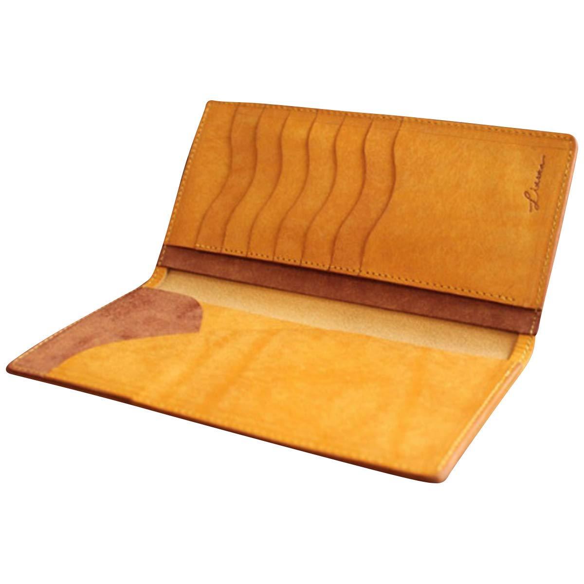 【クーポンあり】LITSTA リティスタ Bill Case Yellow イエロー | ビルケース 束入れ 札入れ 長財布 薄い 極薄 イタリアンレザー pueblo プエブロ メンズ レディース 人気 おすすめ おしゃれ かわいい プレゼント 日本製